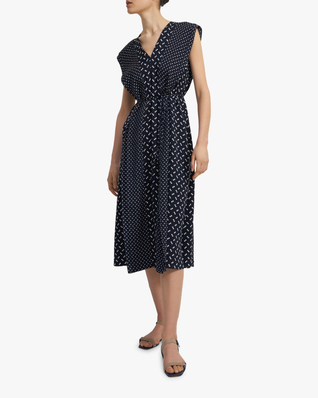 Theory Ruffle V-Neck Dress 2