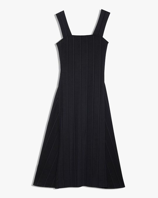 Theory Square-Neck Ribbed Dress 0