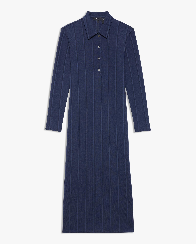 Theory Long-Sleeve Polo Dress 0