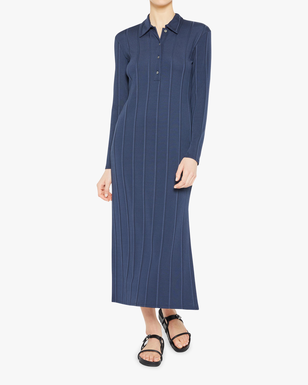 Theory Long-Sleeve Polo Dress 2