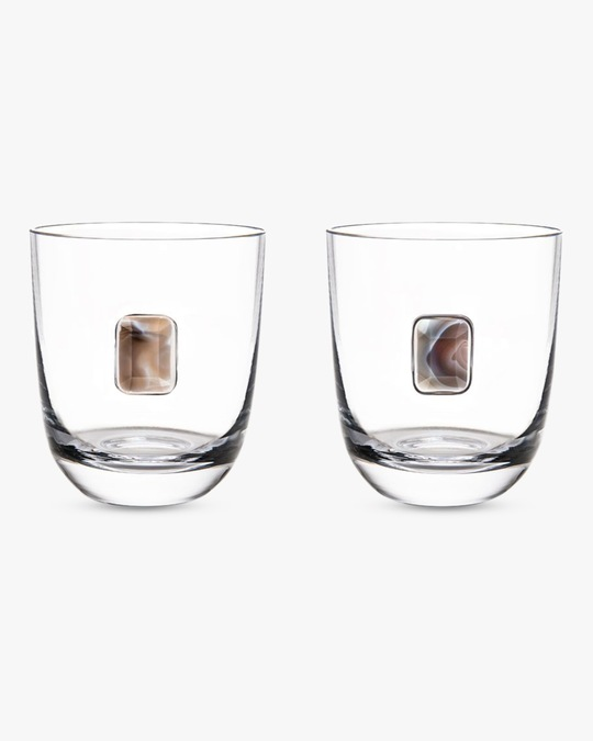ANNA New York Elevo Double Old Fashioned Glasses - Set of Two 0