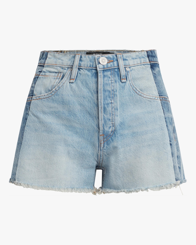 Hudson Reconstructed Indigo Denim Shorts 0