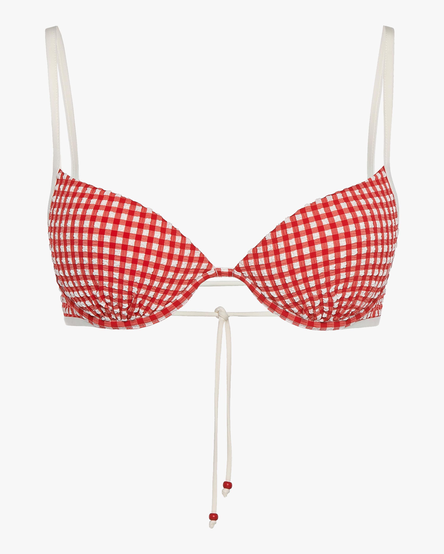 La Perla Vintage Beach Gingham Underwire Bikini Top 1