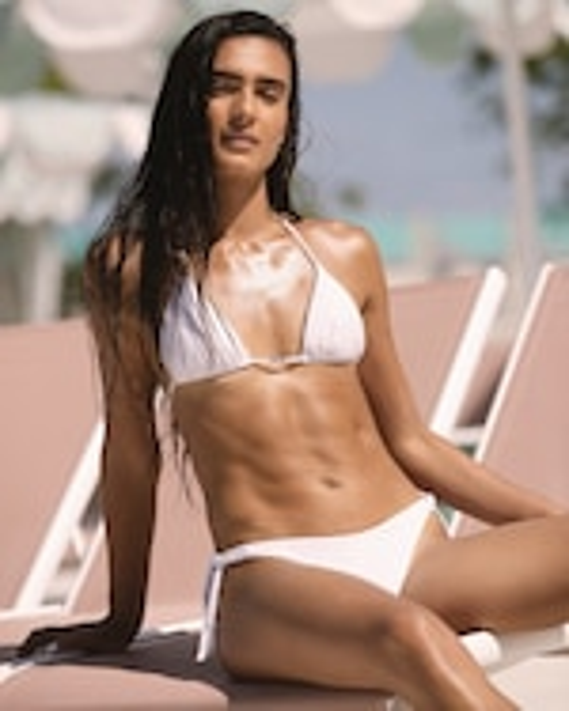 La Perla Stripy Beach Triangle Bikini Top 4