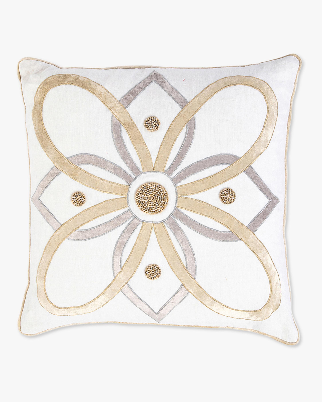 Juliska Berry & Thread Gold & Silver Pillow - 18in 1