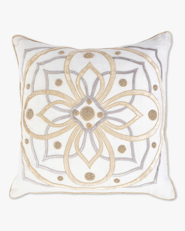 Juliska Berry & Thread Gold & Silver Pillow - 22in 1