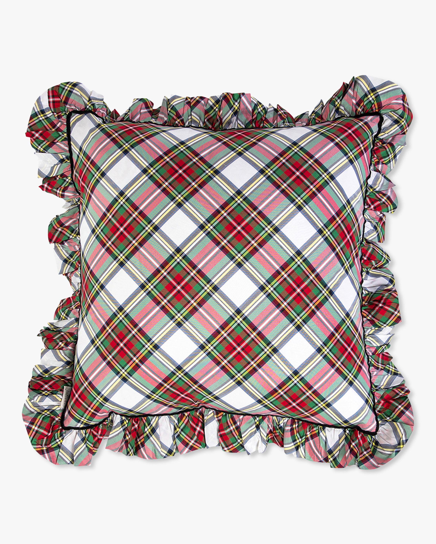 Juliska Stewart Tartan Ruffle Pillow - 18in 1