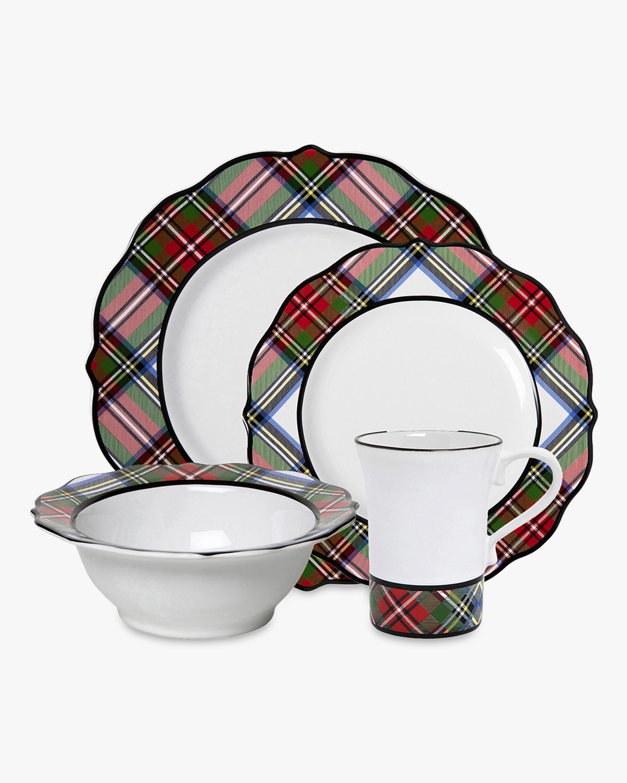 Juliska Stewart Tartan 16-Piece Dinnerware Set 2