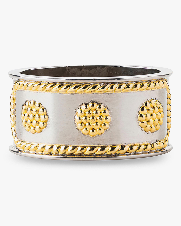 Juliska Berry & Thread Gold & Silver Napkin Ring 0
