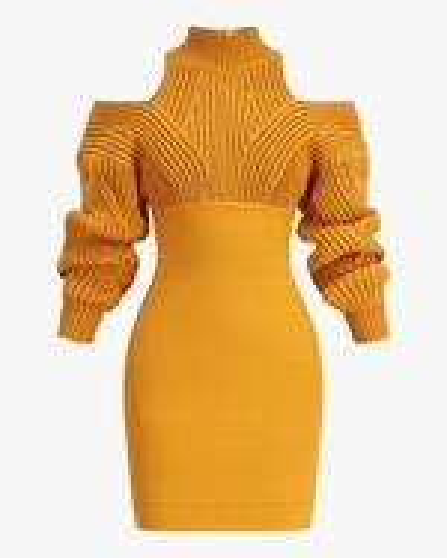 Herve Leger Cable & Bandage Mini Dress 0