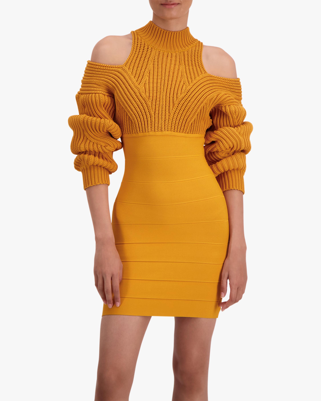 Herve Leger Cable & Bandage Mini Dress 4