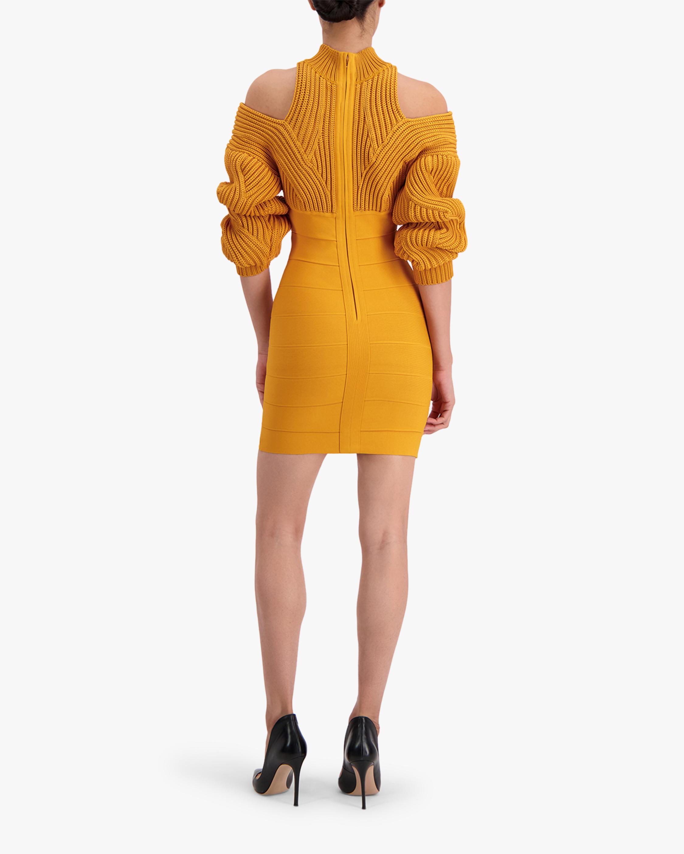 Herve Leger Cable & Bandage Mini Dress 5