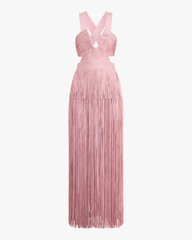 Herve Leger Fringe Cutout Cocktail Dress 0