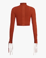 Herve Leger Ribbed Lace Crop Top 5