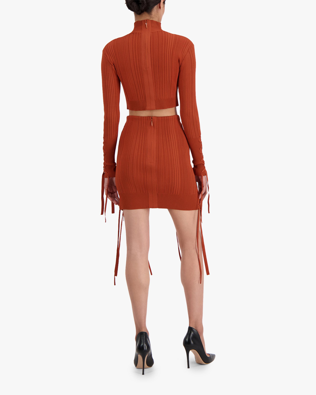 Herve Leger Rib Lace Mini Skirt 4