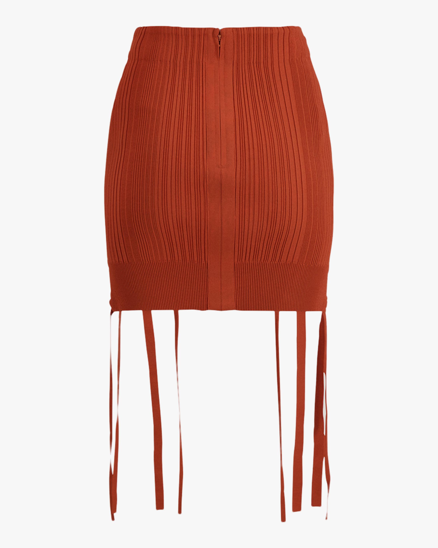 Herve Leger Rib Lace Mini Skirt 5