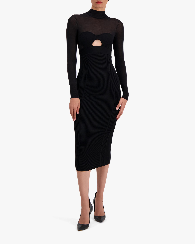 Herve Leger Long-Sleeve Corset Dress 1