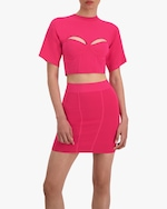 Herve Leger Corset Cropped Tee 5