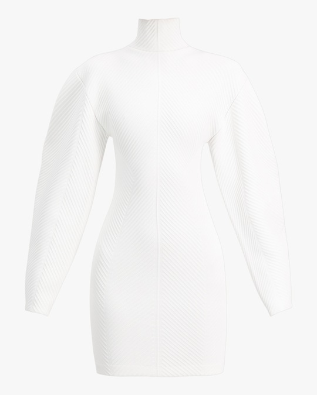 Herve Leger Long-Sleeve Contour Mini Dress 0