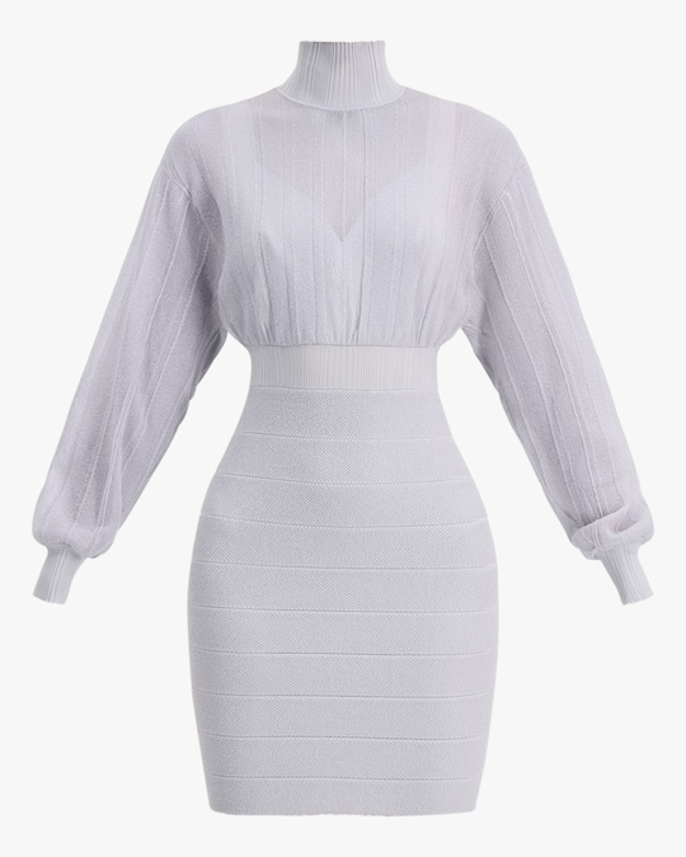 Herve Leger Transparent Mini Dress 0