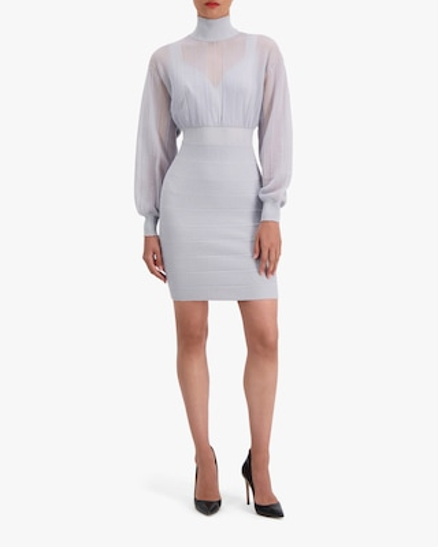 Herve Leger Transparent Mini Dress 2