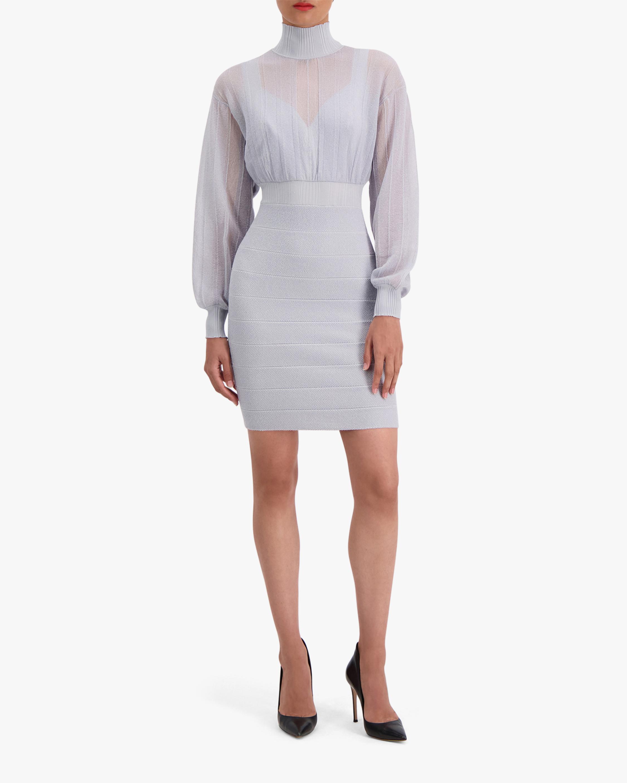 Herve Leger Transparent Mini Dress 1