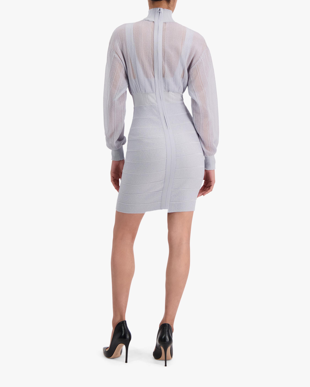 Herve Leger Transparent Mini Dress 3