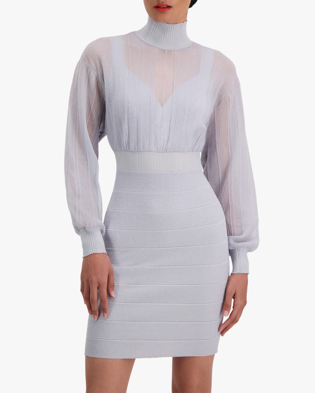 Herve Leger Transparent Mini Dress 4