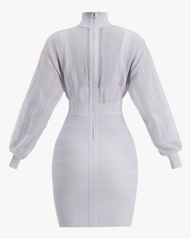Herve Leger Transparent Mini Dress 5