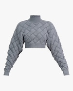 Herve Leger Chunky Weave Crop Top 0