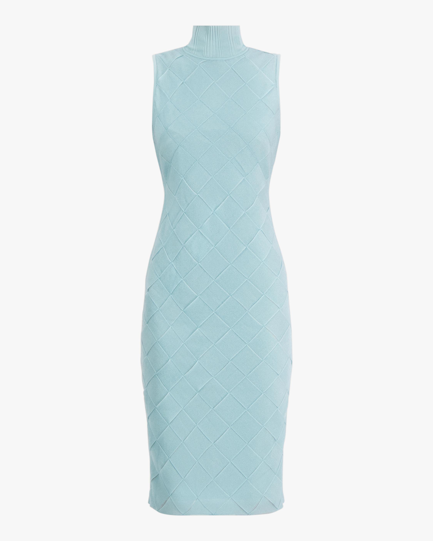Herve Leger Textured Bandage Midi Dress 0