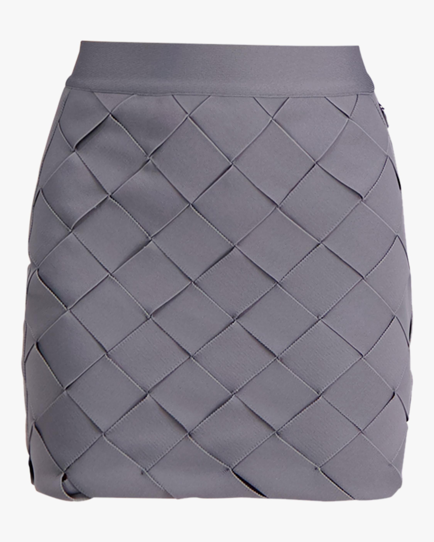 Herve Leger Bandage Weave Mini Skirt 0