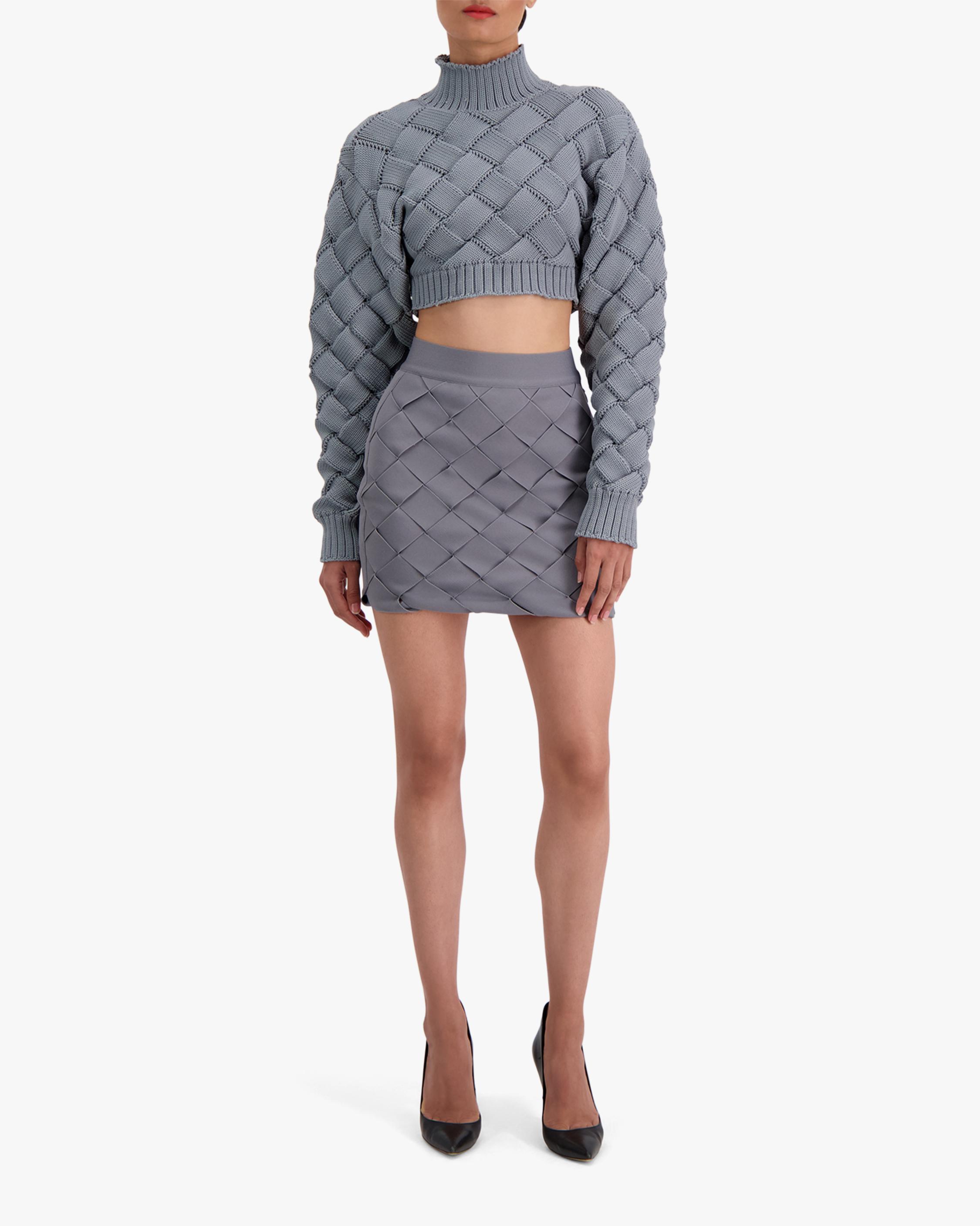 Herve Leger Bandage Weave Mini Skirt 2