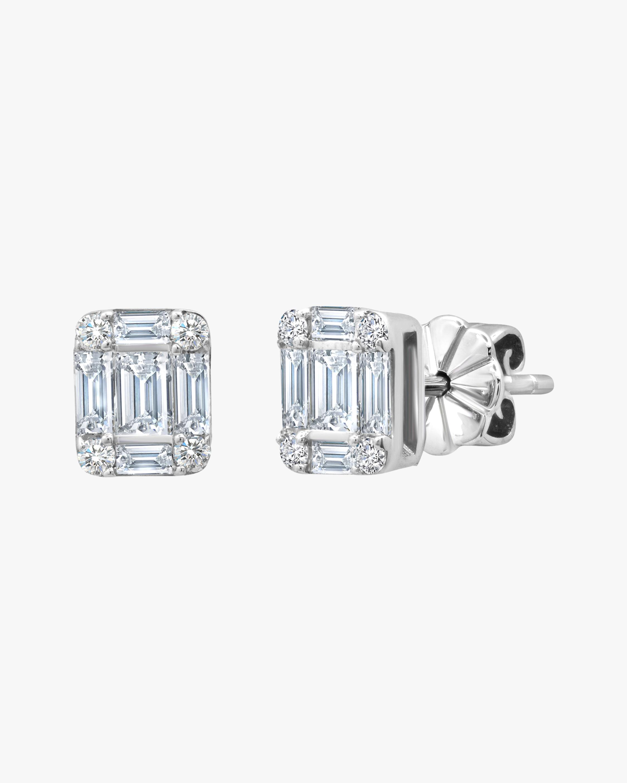 Graziela Gems Square Diamond Stud Earrings 2