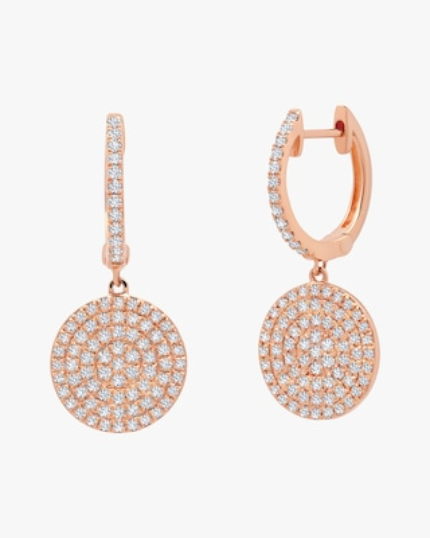 Graziela Gems Diamond Disc Hoop Earrings 1