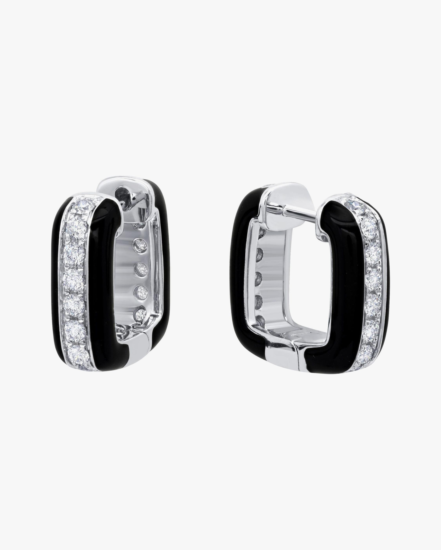 Graziela Gems Diamond-Trimmed Square Earrings 0