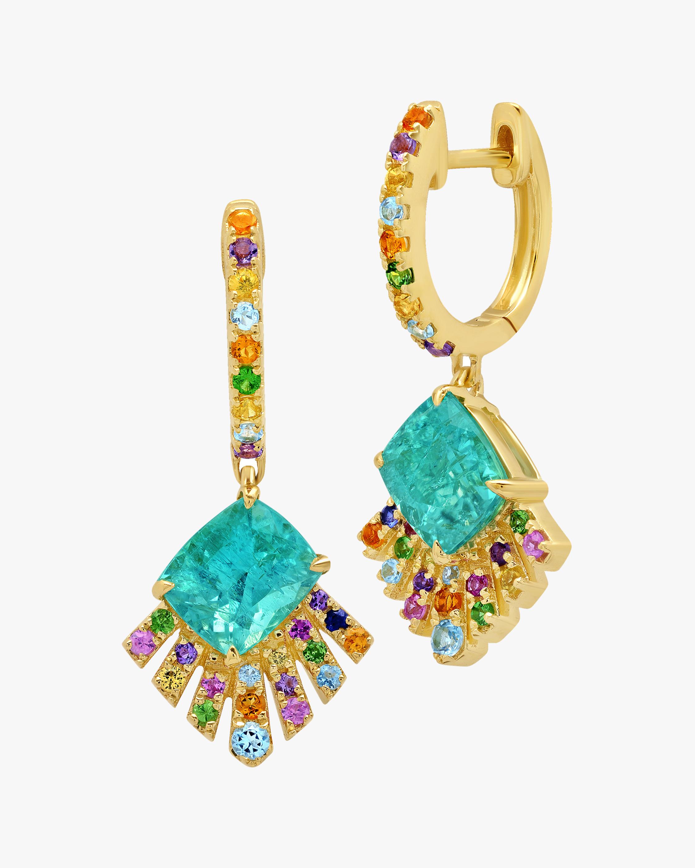 Graziela Gems Rainbow Gemstone Geometric Drop Earrings 2