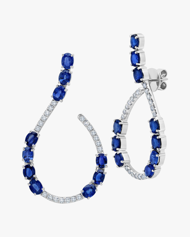 Graziela Gems Sapphire & Diamond Loop Earrings 0