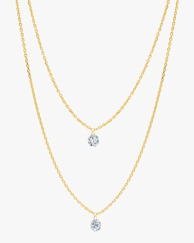 Graziela Gems Layered Diamond Pendant Necklace 2