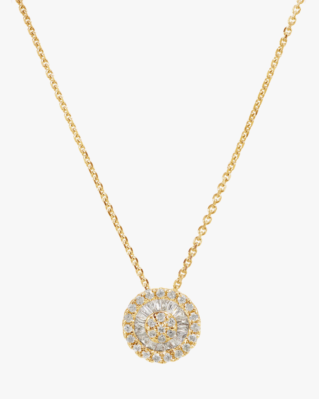 Graziela Gems Diamond Disc Pendant Necklace 1