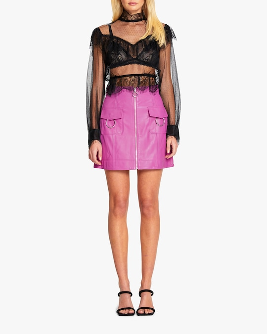 Alice McCall Bad Angels Leather Skirt 1