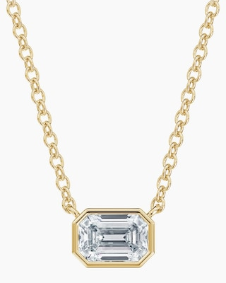 De Beers Forevermark The Forevermark Tribute™ Collection Emerald Diamond Necklace 1