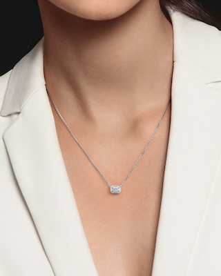 De Beers Forevermark The Forevermark Tribute™ Collection Emerald Diamond Necklace 2