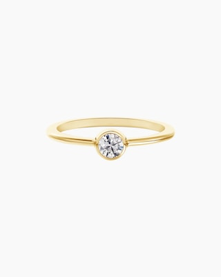 De Beers Forevermark The Forevermark Tribute™ Collection Classic Bezel Ring 1