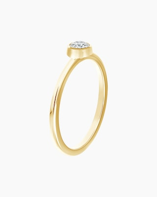 De Beers Forevermark The Forevermark Tribute™ Collection Classic Bezel Ring 2