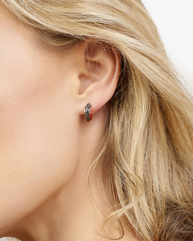 Selin Kent Black Diamond Eva Hoop Earrings 1