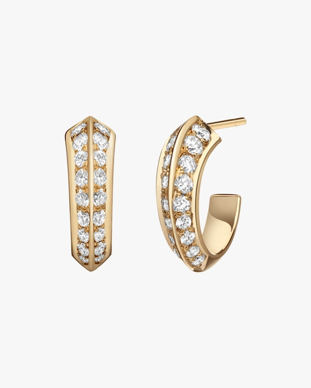Selin Kent White Diamond Eva Hoop Earrings 0