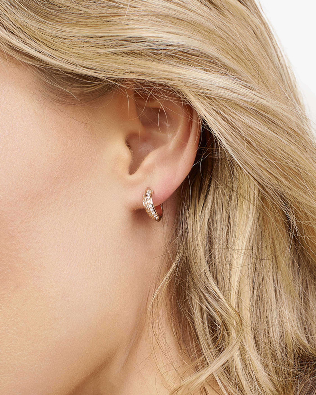 Selin Kent White Diamond Eva Hoop Earrings 2