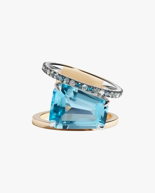 Selin Kent Blue Topaz Pera Ring 0