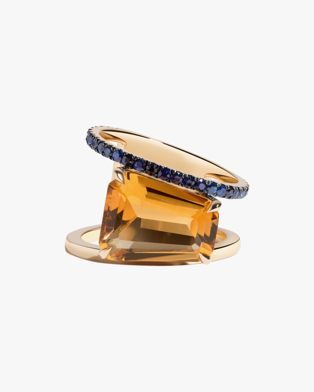 Selin Kent Citrine & Sapphire Pera Ring 0